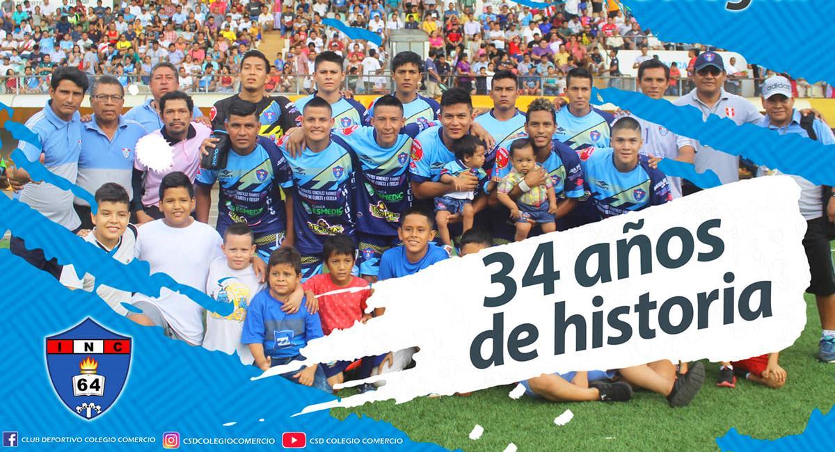 Último plantel del Colegio Comercio. Foto: Facebook Club Deportivo Colegio Comercio de Pucallpa