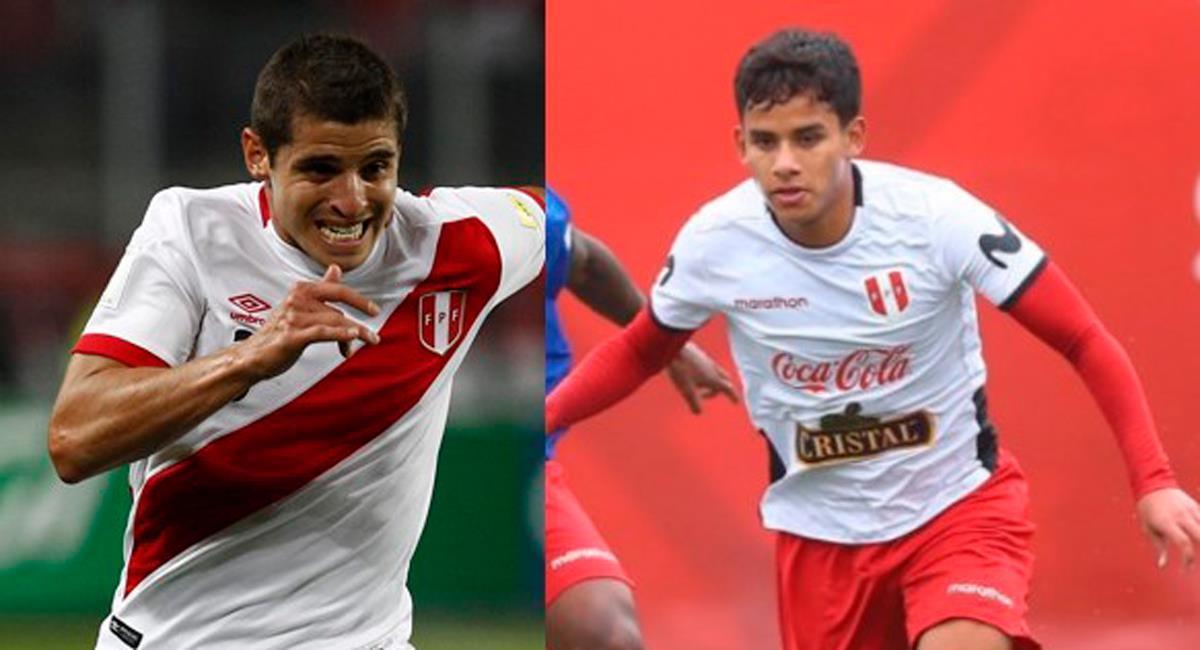 Corzo y Lora, uno será titular ante Uruguay. Foto: Interlatin Captura Futbolperuano.com