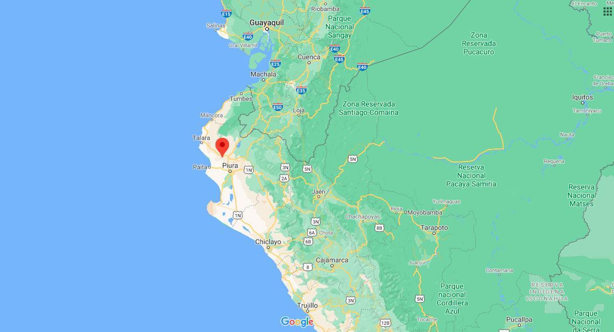 Sullana sorportó un fuerte temblor este 1 de setiembre. Foto: Google Maps
