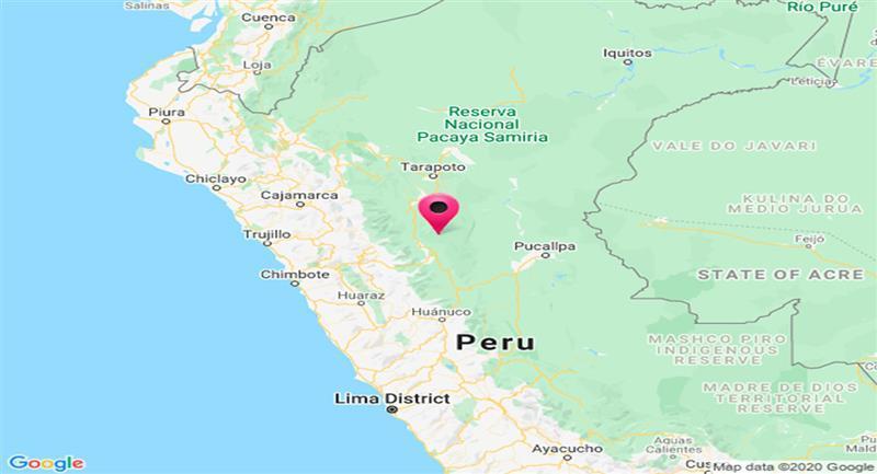Temblor en Tocache. Foto: Google Maps