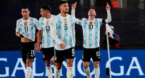 Messi le da victoria a Argentina