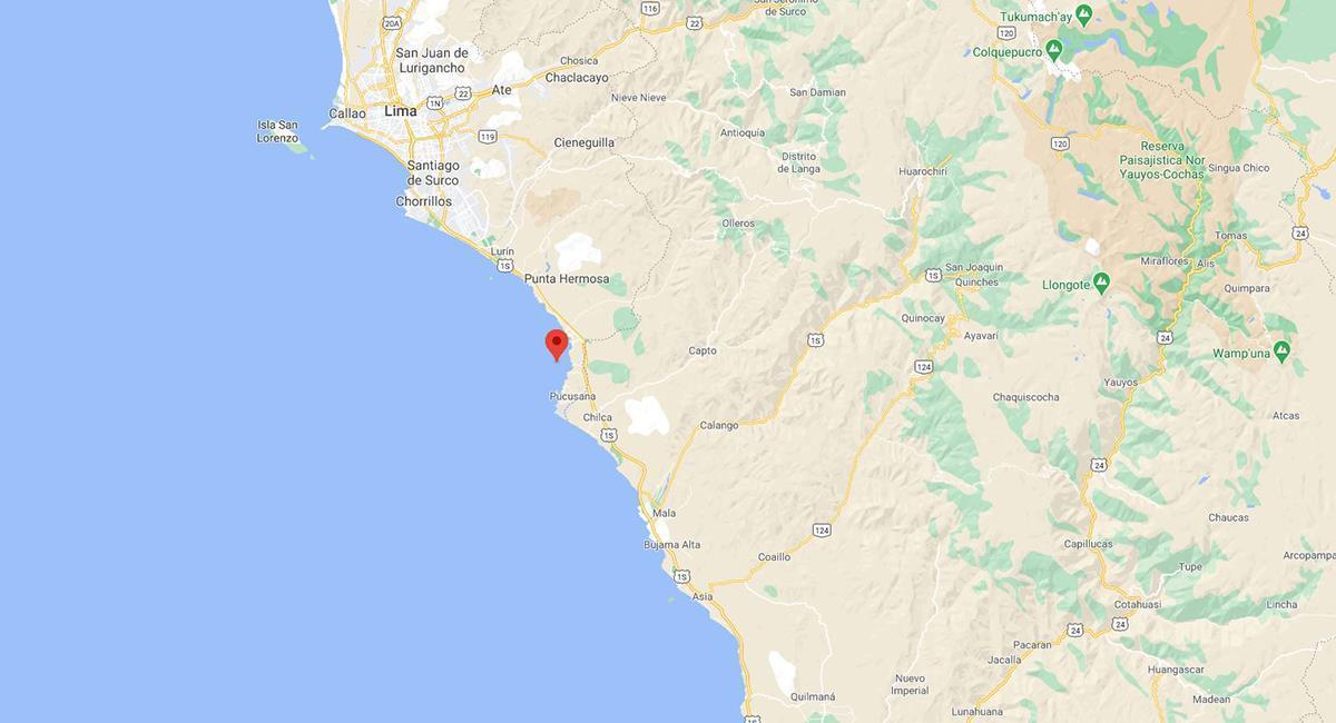 Cañete sintió un temblor este 8 de setiembre. Foto: Google Maps