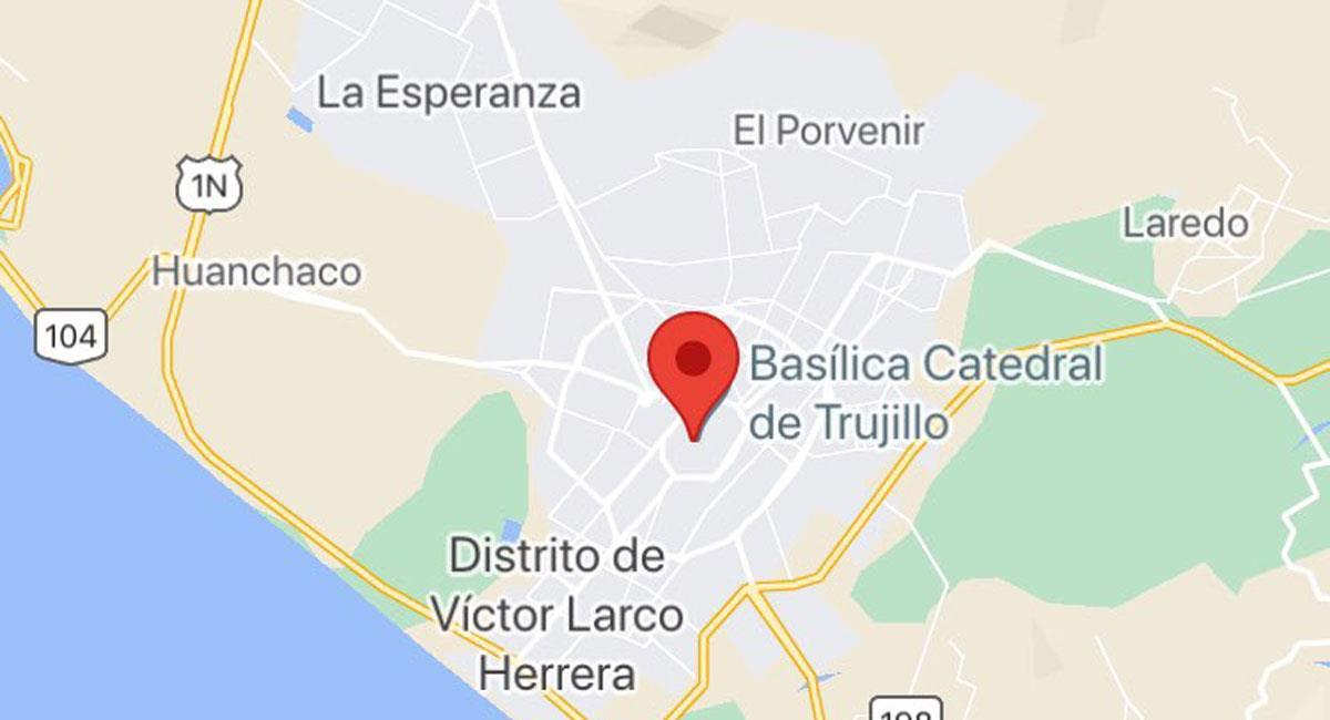 Temblor en Trujillo - La Libertad. Foto: Google Maps