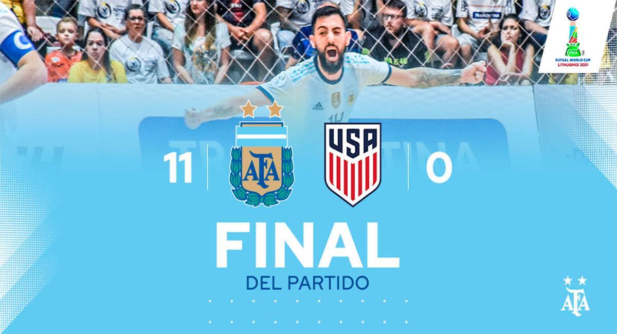 Argentina debutó con goleada en el Mundial de Futsal. Foto: Twitter @Argentina