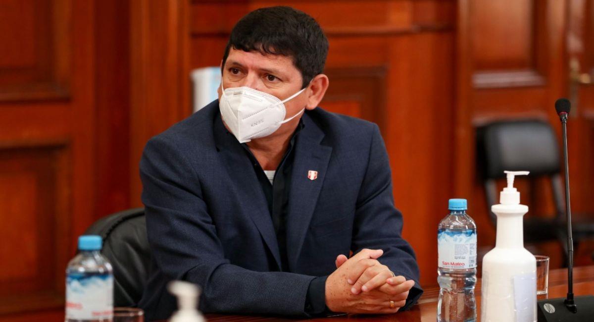 Agustín Lozano, presidente de la FPF. Foto: Andina