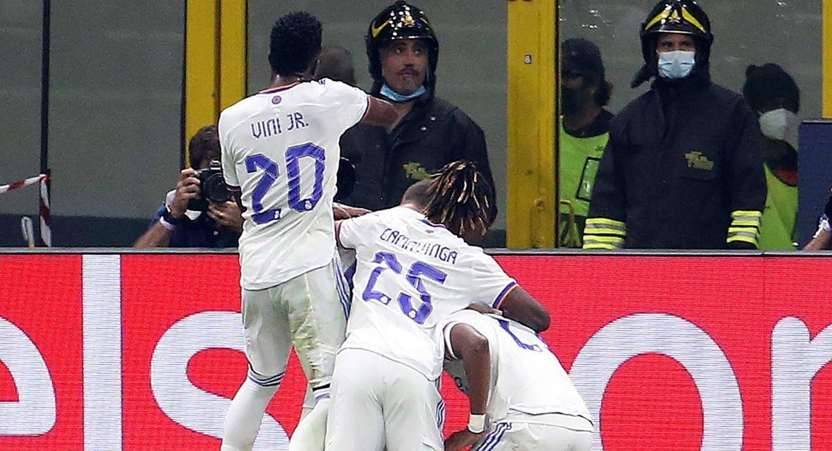 Real Madrid celebrando ante el Inter de Milán. Foto: EFE