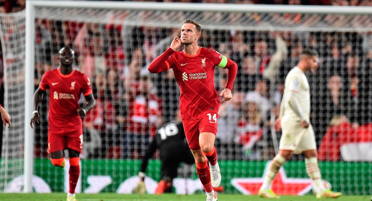 Jordan Henderson anotó el gol del triunfo para Liverpool. Foto: EFE