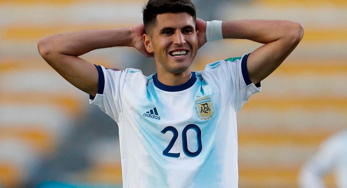 Exequiel Palacios no podrá jugar contra Perú en octubre. Foto: Twitter