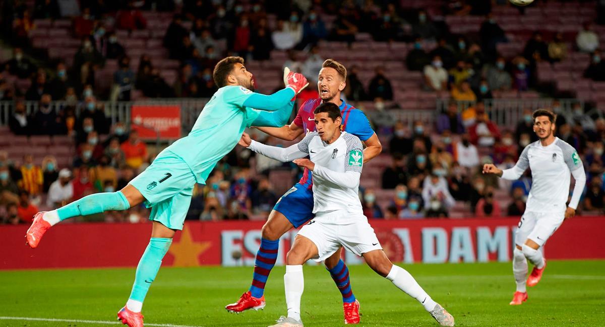 Luis Abram fue titular este lunes en el Barcelona vs Granada. Foto: EFE