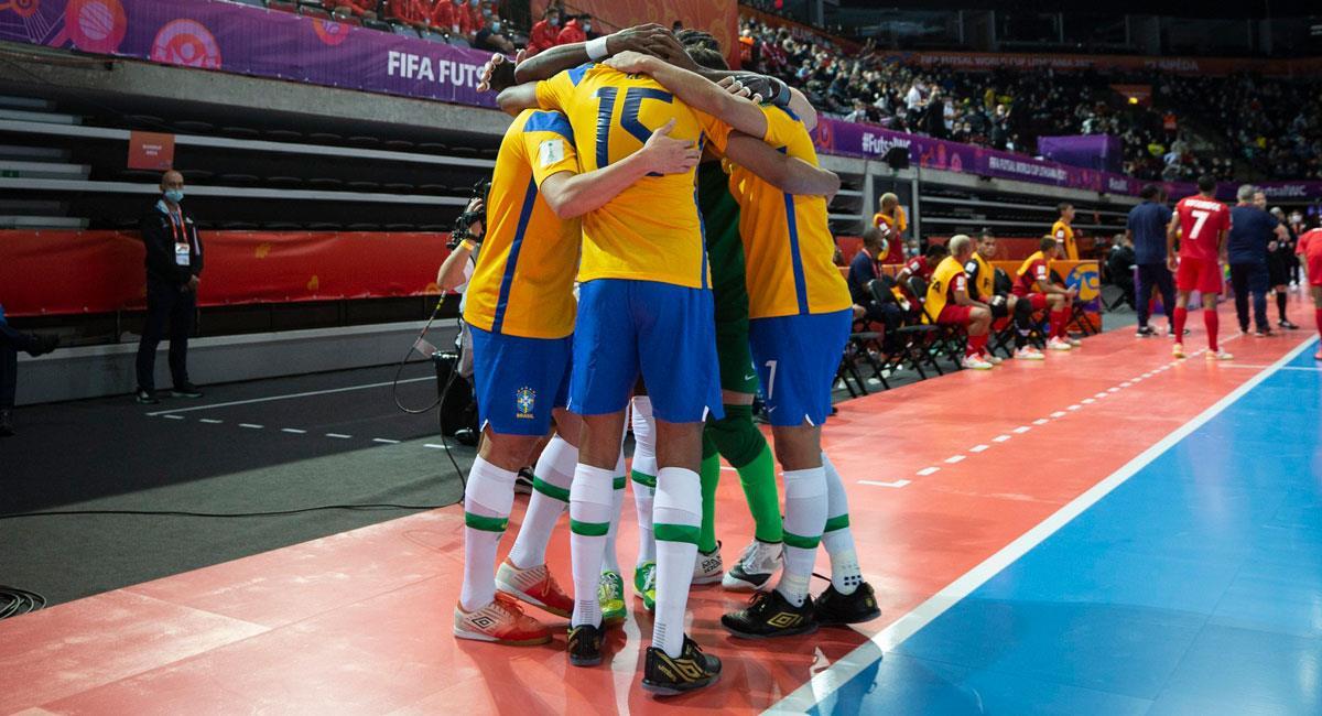 Brasil quiere el título en el Mundial de Fusal. Foto: Twitter @CBF_Futebol (Thais Magalhães / CBF)