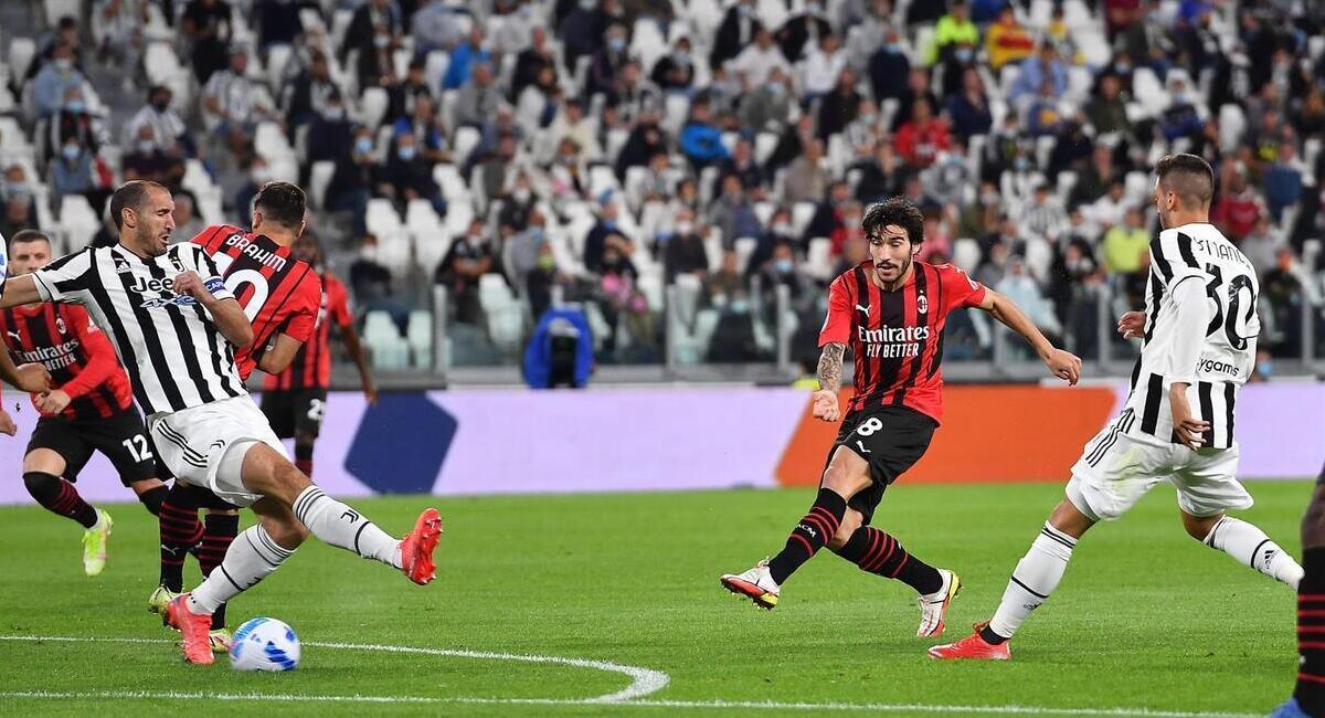 Juventus igualó con Milan. Foto: EFE