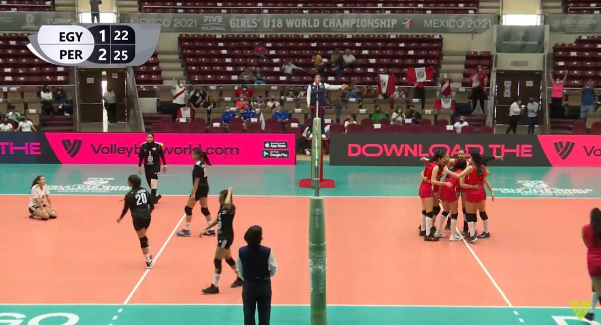 Perú logró un gran debut en el Mundial Sub 18 de Vóley Femenino. Foto: Twitter Difusión