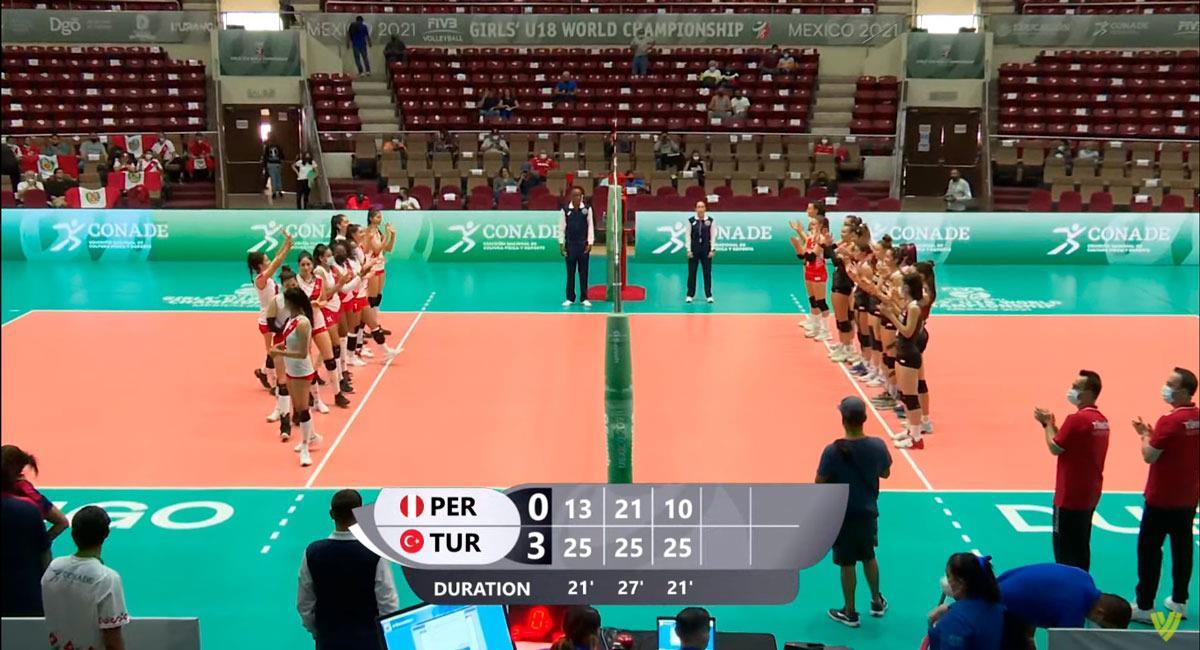 Perú no pudo en su segundo duelo del Mundial de Vóley Femenino Sub 18. Foto: FIVB