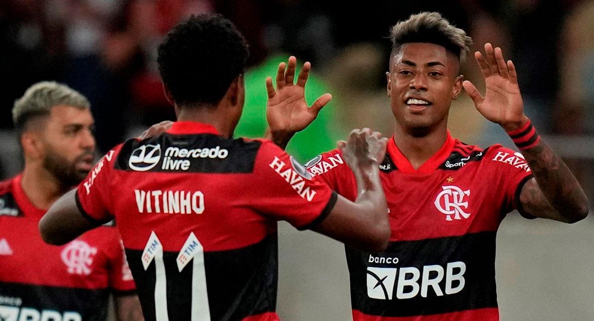 Flamengo venció a Barcelona (ECU) por Libertadores. Foto: EFE