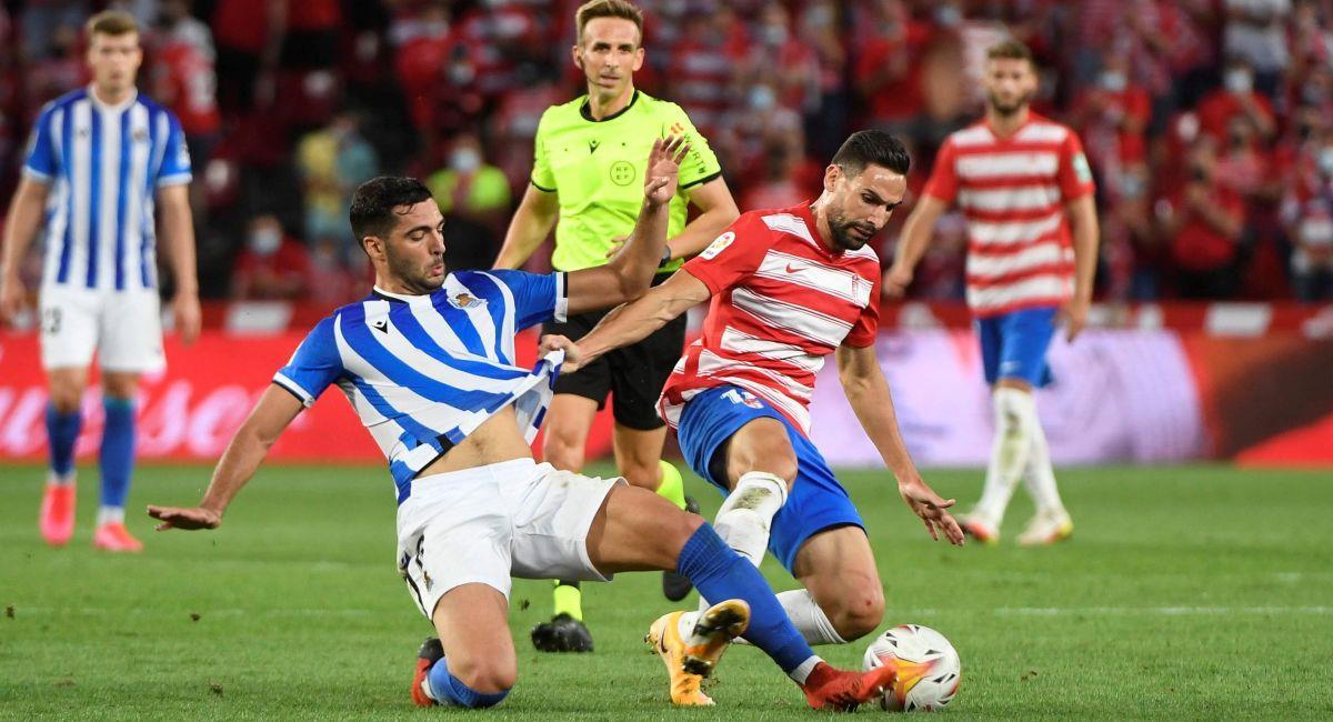 Granada no pudo de local con la Real Sociedad. Foto: EFE