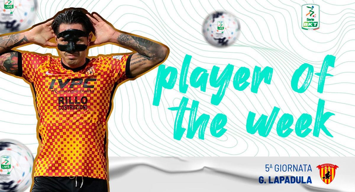 Lapadula elegido 'Jugador de la Semana'. Foto: Twitter @Lega_B