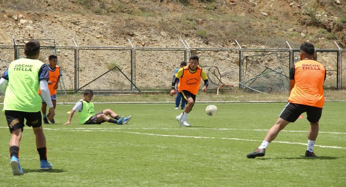 Las Palmas de Chota en sus entrenamientos. Foto: Facebook Club Las Palmas de Chota