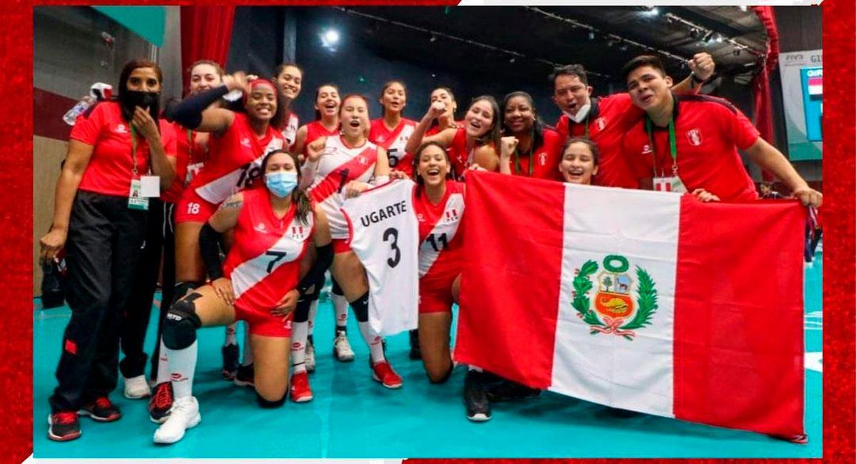 Perú clasificó a 8vos del Mundial de Vóley Femenino Sub 18. Foto: Twitter FPV