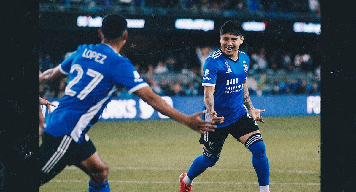 López jugó en la victoria de San Jose en la MLS. Foto: Twitter @SJEarthquakes