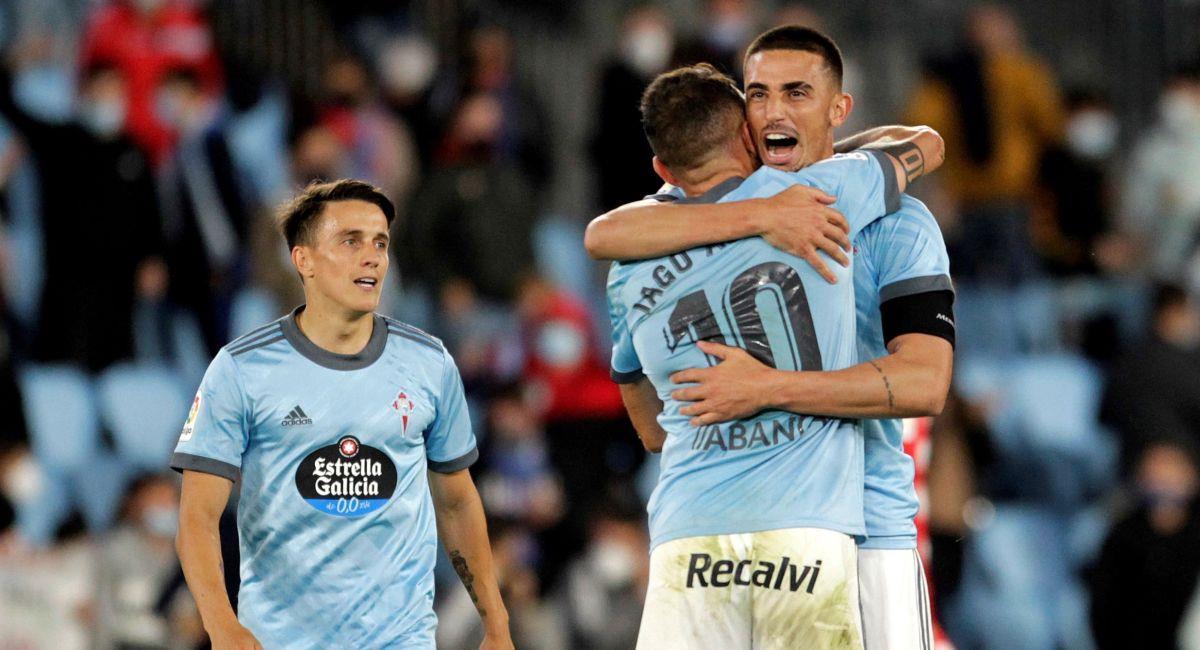 Celta de Vigo volvió a celebrar en la LaLiga Santander. Foto: EFE
