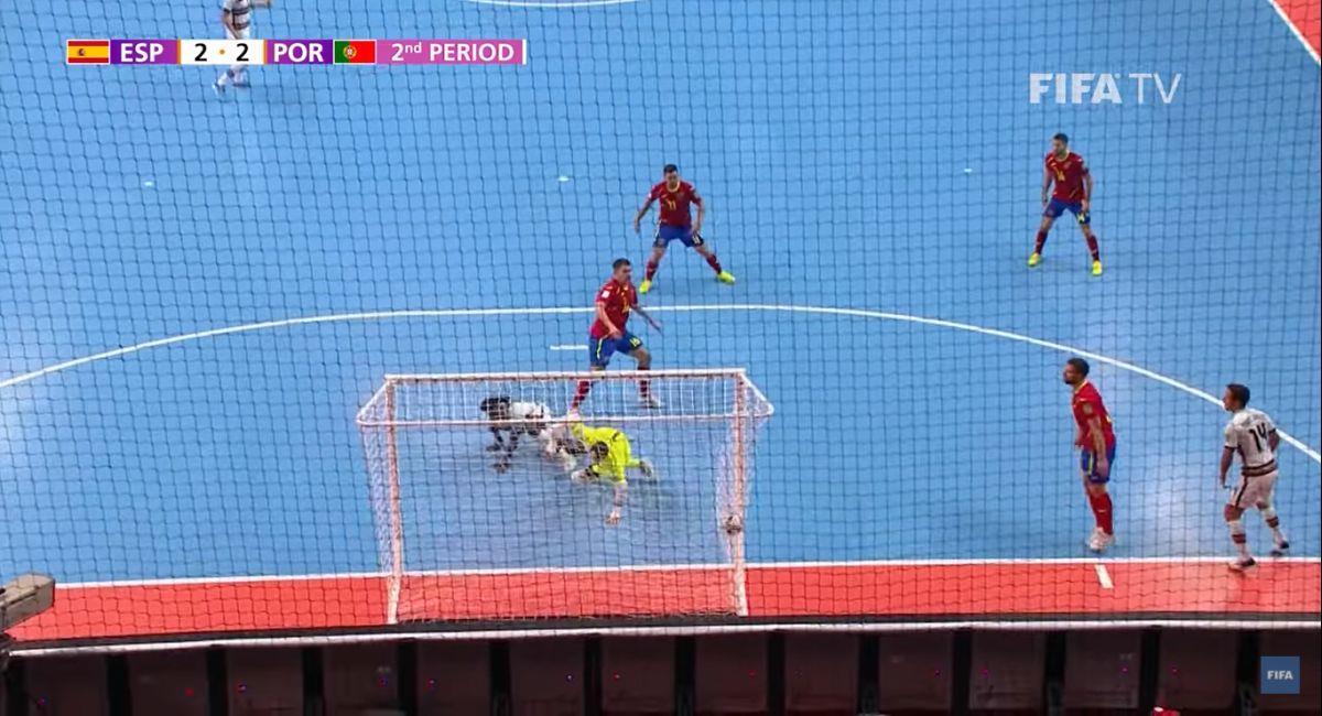Portugal venció a España en el Mundial de Futsal de Lituania. Foto: Captura