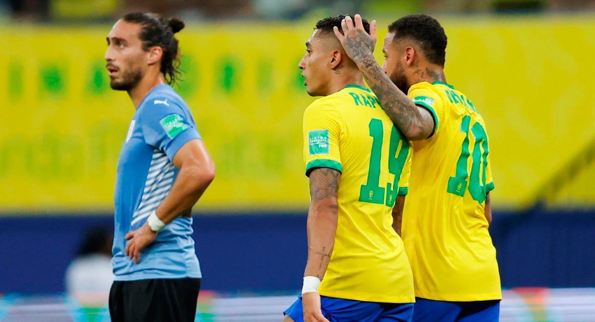 Brasil no pasó apuros con Uruguay. Foto: EFE