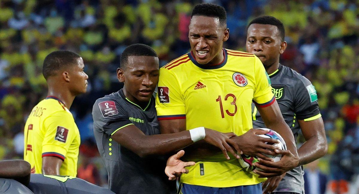 Colombia y Ecuador no se sacaron diferencias. Foto: EFE